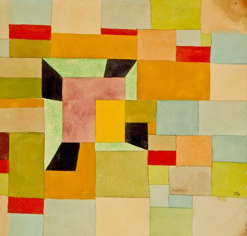 Aufgeteilte Farbvierecke, 1921-38 by Paul Klee