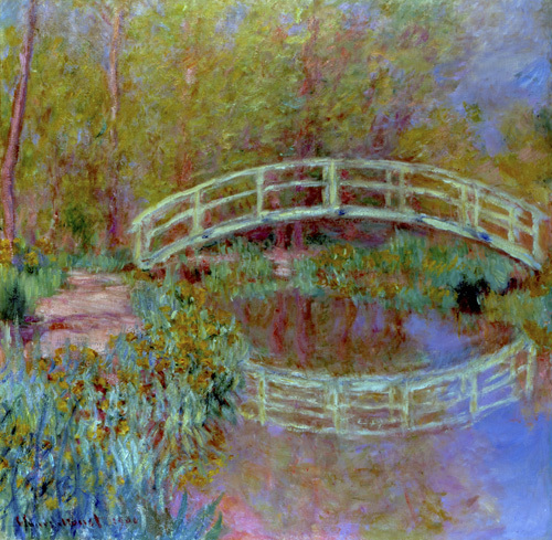 Le pont japonais dans le jardin de monet art print by claude monet at king mcgaw - Livre le jardin de monet ...