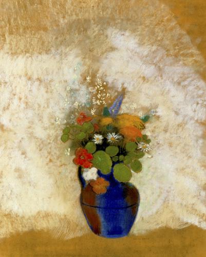 Fleurs dans un Vase, c.1905-08 by Odilon Redon