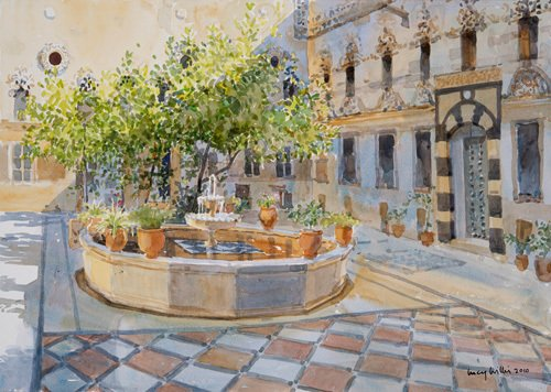 The Fountain, Alleppo by Lucy Willis