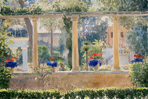 The Palace Garden, Malta by Lucy Willis