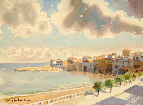 View from the Balcony, Sicily by Lucy Willis