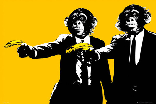 Monkeys - Bananas by Anonymous