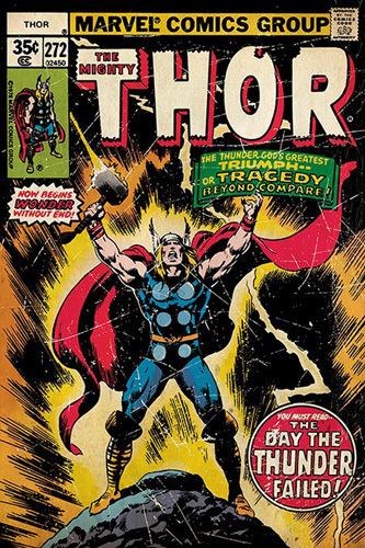 Thor - Retro Comic by Marvel Comics
