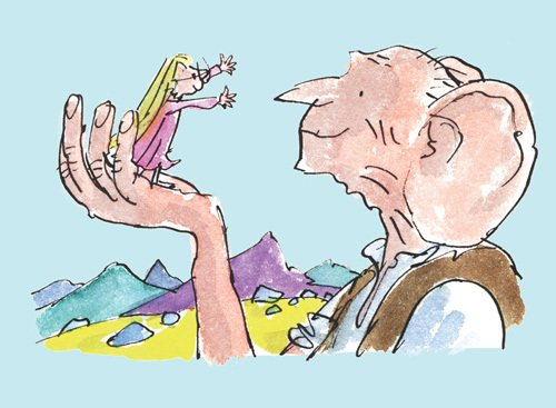 Roald Dahl - The BFG and Sophie 3 by Quentin Blake