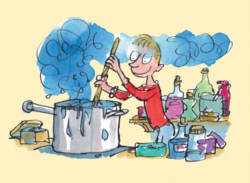 Roald Dahl - Georges Marvellous Medicine 1 by Quentin Blake