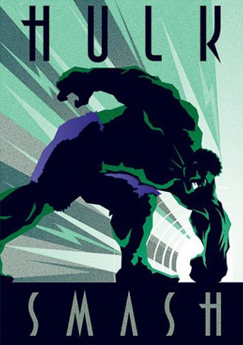 Marvel Deco Hulk Art Print By Marvel Comics At King Amp Mcgaw