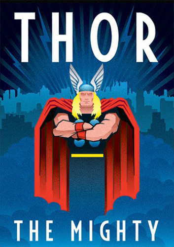 Marvel Deco Thor Art Print By Marvel Comics King Amp Mcgaw