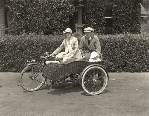 Family Motoring c.1920 by Anonymous