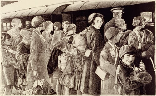 The Evacuation of Children, 1940 by Ethel Leontine Gabain