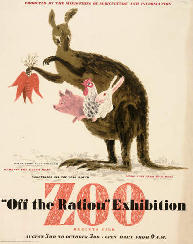 Off the Ration Exhibition - Regents Park Zoo by George Him & Jan Le Witt-Him