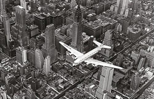 DC-4 over Manhattan by Margaret Bourke-White