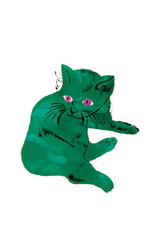 Green Cat, c.1954 by Andy Warhol