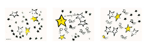So Many Stars, c.1958 (triptych) by Andy Warhol
