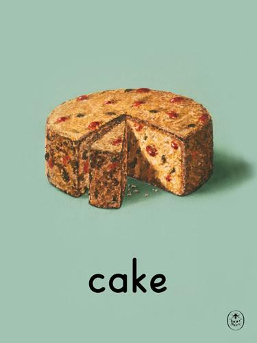 cake Art Print by Ladybird Books  King & McGaw