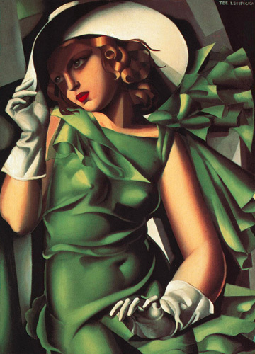 Young Lady with Gloves (Girl in a Green Dress) 1930 by Tamara de Lempicka