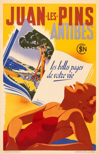 Juan les Pins 1930s by Rene Bleuer