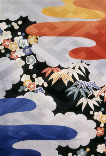 Plum, bamboo and clouds by Anonymous