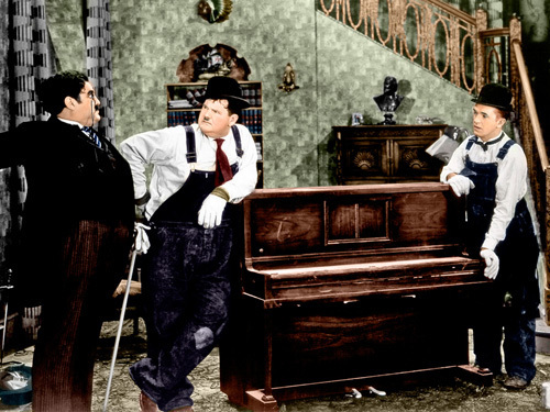 Laurel and Hardy (The Music Box) 1932 by Hollywood Photo Archive