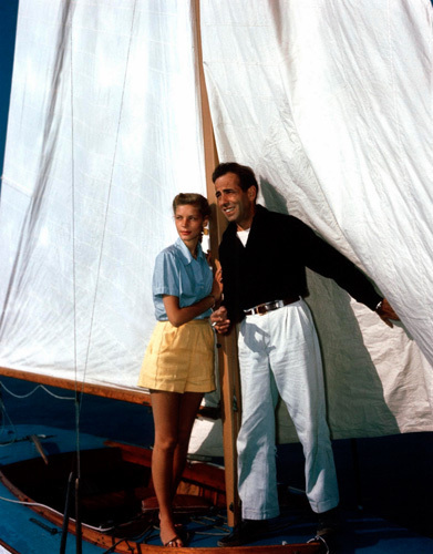 Lauren Bacall and Humphrey Bogart on the Sirocco, c.1945 by Hollywood Photo Archive