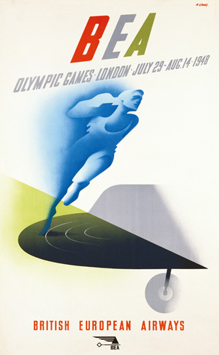 BEA  Olympic Games 1948 by Abram Games
