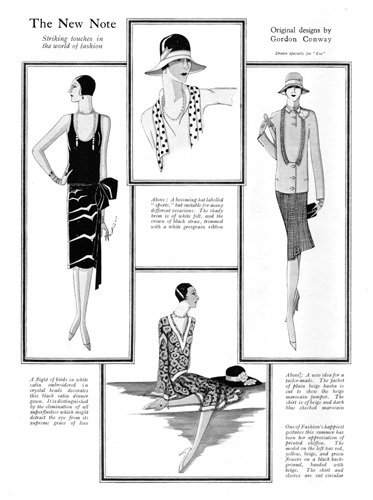 New Fashions Notes 1927 by Gordon Conway