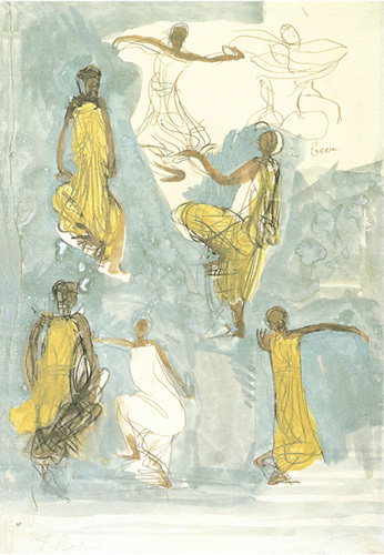 Cambodian Dancers by Auguste Rodin