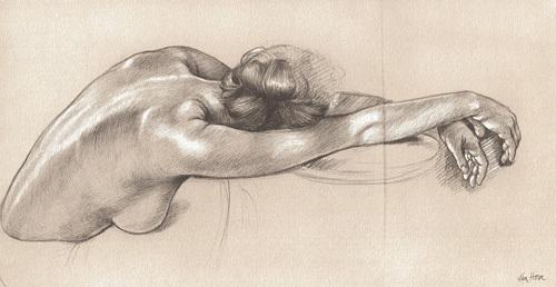 Nadege Resting by Francine Van Hove