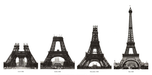 Construction of the Eiffel Tower by Roger-Viollet