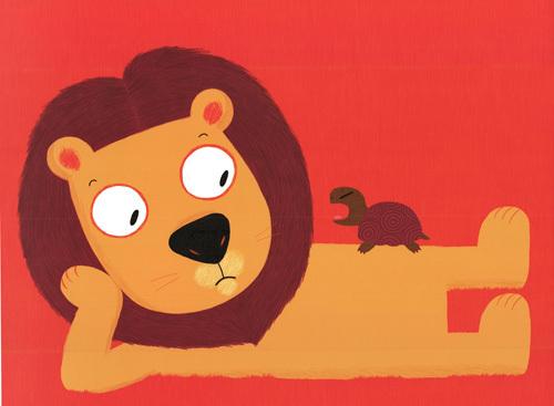 Le lion et la tortue by Nathalie Choux