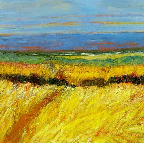 Fields by the Sea by John Houston