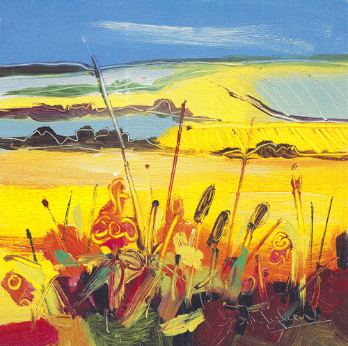 Yellow Fields and Hedgerows by Judith I. Bridgland