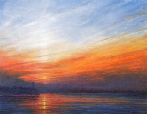Sunrise at Butler's Wharf by Derek Hare