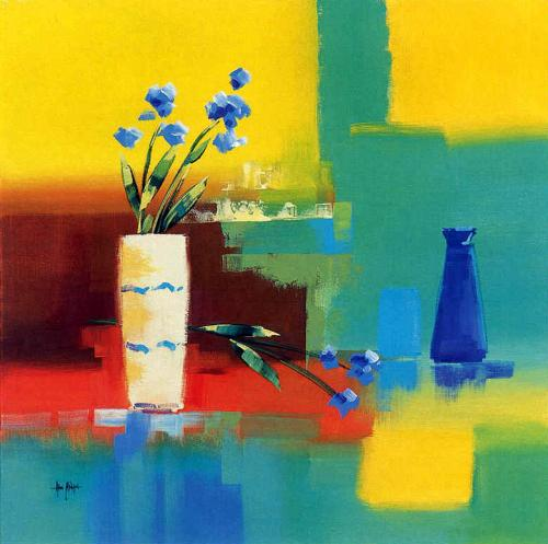 Flowers and Vase by Alan Morgan