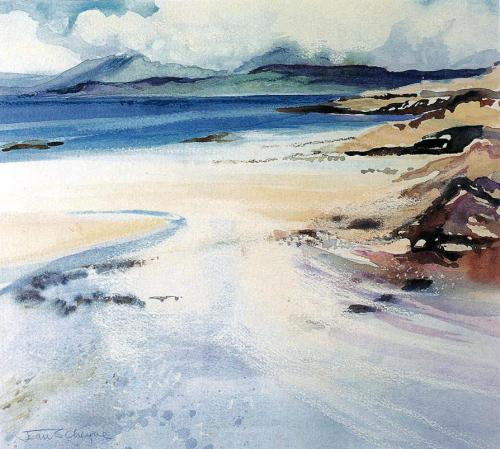 Cuillins from Morar by Jean Cheyne