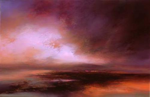 Purple Sunset by Kirstie Cohen