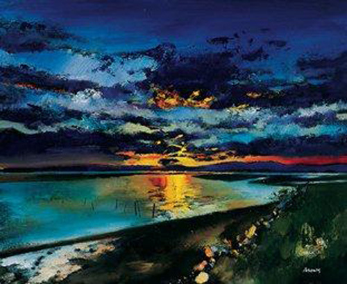 Sunset over the Estuary by Davy Brown