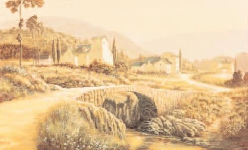 Stone Bridge, Tuscany by Arthur Claridge