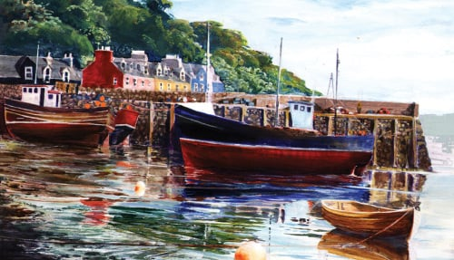 Tied up Tobermory by Ronnie Leckie