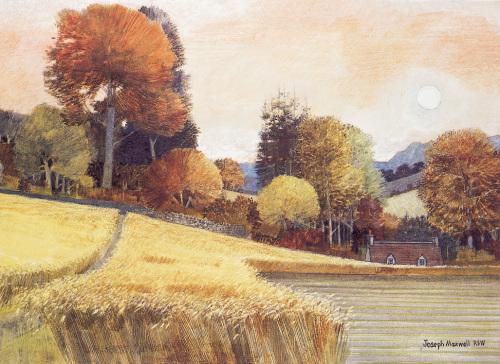 Path through the ripe corn by Joseph Maxwell