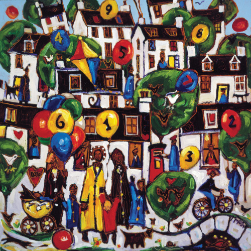 Painting by numbers 2 by Charles Monteith Walker
