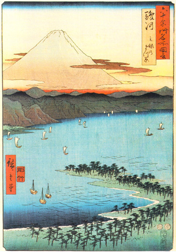 Pine Beach at Miko by Ando Hiroshige
