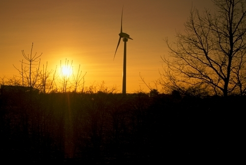 Wind Turbine at Sunset by Richard Osbourne