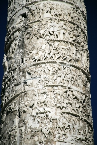 Column of Marcus Aurelius - Rome by Richard Osbourne