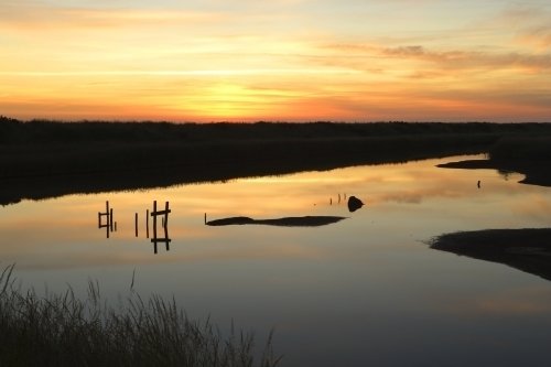 Titchwell Sunrise by Richard Osbourne