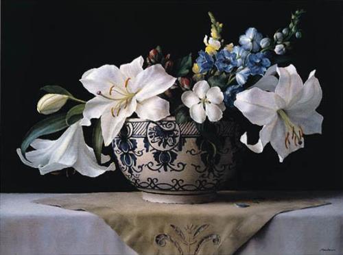 Lilies In Delft by Ken Marlow