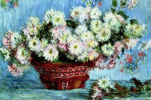 Chrysanthemums,1878 by Claude Monet