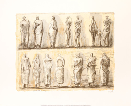 Standing Figures, 1949 by Henry Spencer Moore