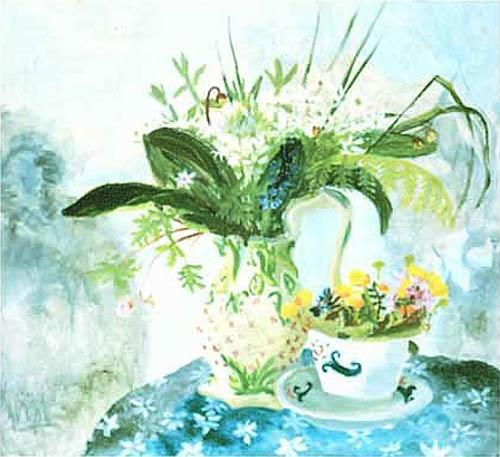 Wild Garlic and King Cups by Nicholson