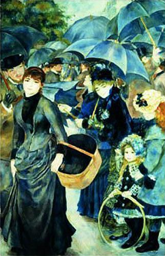 The Umbrellas, c.1881 by Pierre Auguste Renoir